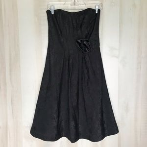 New White House Black Market Strapless Black Dress